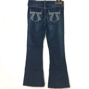 SEVEN 7 | Tall Embroidered Flare Jeans